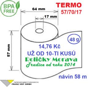 Termo 57/70/17 58 m BPA Free
