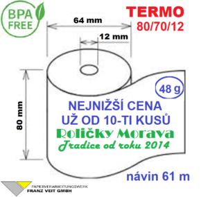 Termo 80/70/12 61 m BPA Free