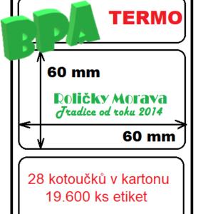Termo etiketa 60/60/40