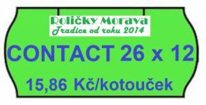 Cenová etiketa CONTACT 26×12 signální