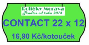 Cenová etiketa CONTACT 22×12 signální