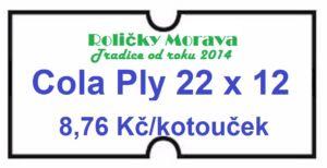 Cenová etiketa Cola Ply 22×12 bílá