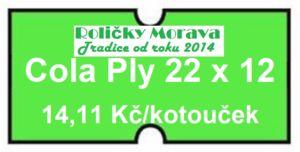 Cenová etiketa Cola Ply 22×12 signální