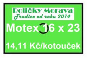 Cenová etiketa Motex 16×23 signální