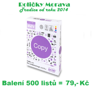 Rey Copy A4 500 listů, 80 g/m2