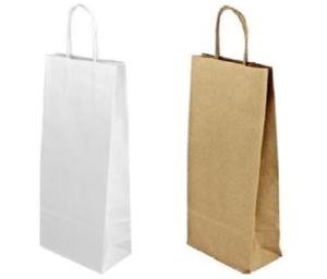 Papírová taška na láhve 140x80x390 mm