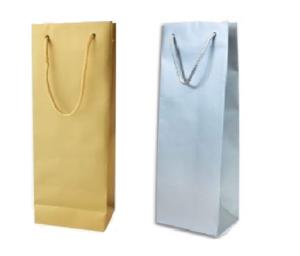 Papírová taška na láhve luxusní 120x80x350 mm
