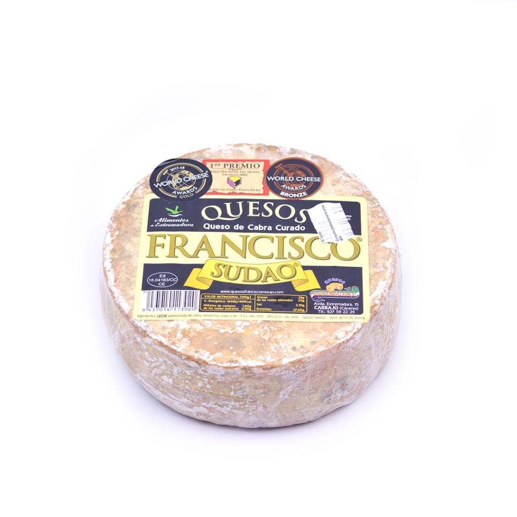 QUESO CARBAJO Francisco sudao vyzrálý kozí sýr cca 0,7 Kg