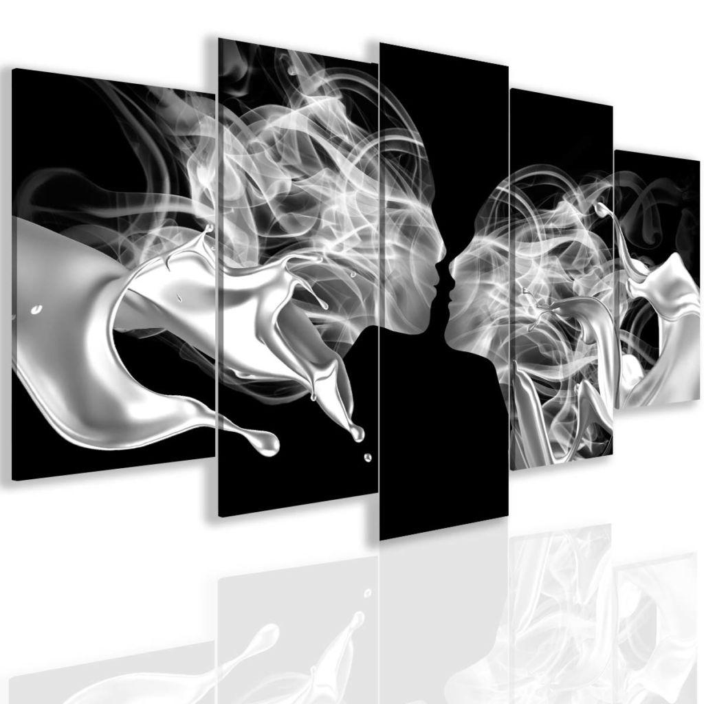 Obraz kouřový polibek