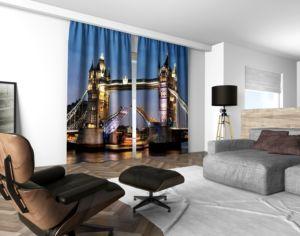 3D dekorační závěs 205V TOWER BRIDGE 2x160x250 cm set 2 kusy MyBestHome