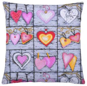 Bavlněný polštář COLORS HEARTS 40×40 cm, Mybesthome