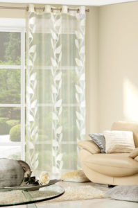 Dekorační vzorovaná záclona FARNA krémová, 140×250 cm MyBestHome