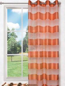 Dekorační vzorovaná záclona FLORENCE oranžová 140×245 cm MyBestHome