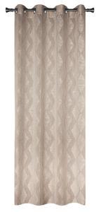 Dekorační vzorovaná záclona KARO béžová 140×245 cm MyBestHome