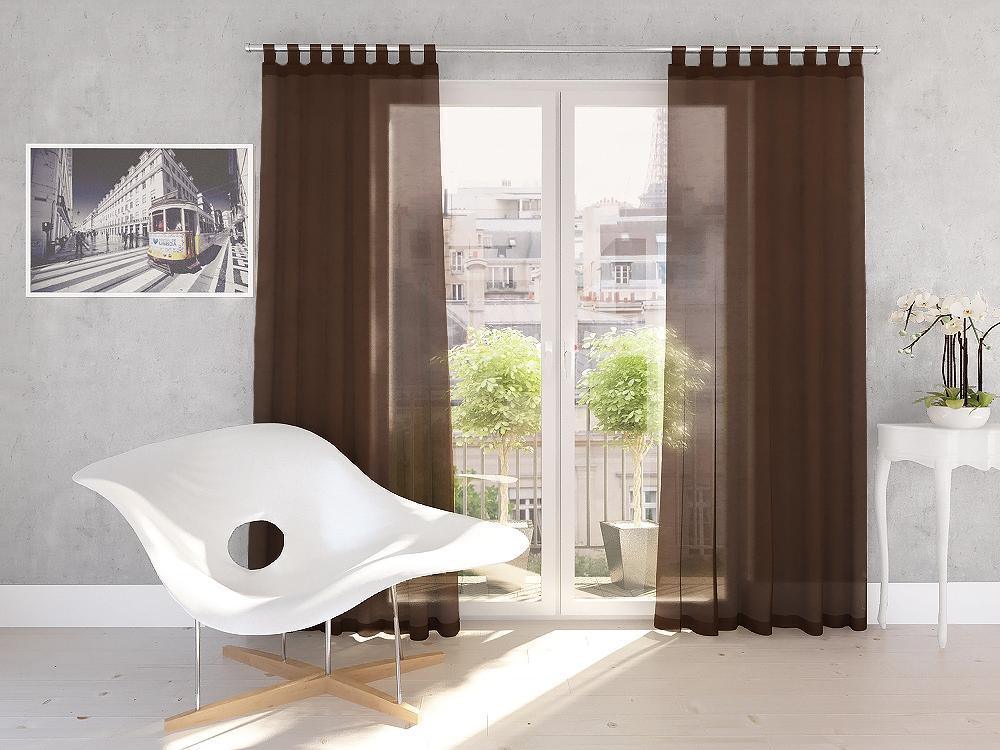 Dekorační záclona DIANA čokoládová 140×245 cm MyBestHome