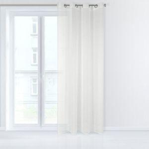 Dekorační záclona EMMA krémová s kroužky 140×250 cm MyBestHome
