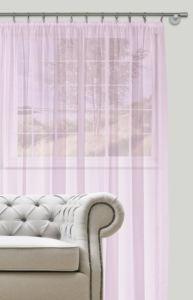 Dekorační záclona s řasící páskou DIANA fialová 400×260 cm MyBestHome