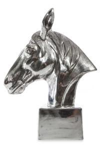 HORSE HEAD dekorativní soška stříbrná 32x15x42 cm Mybesthome