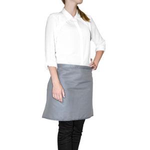 Kuchyňská bavlněná zástěra do pasu MULTICOLOR šedá, 45×65 cm, Essex, 100% bavlna