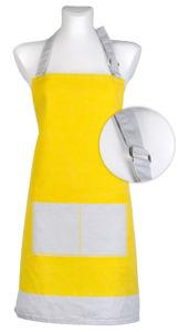 Kuchyňská bavlněná zástěra UNIVERSAL žlutá,  Essex, 100% bavlna