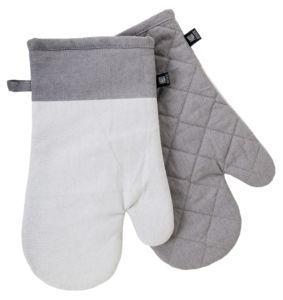 Kuchyňské bavlněné rukavice – chňapky UNIVERSAL světle šedá, 100% bavlna 19×30 cm Essex