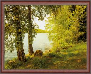 Obraz v rámu BY THE LAKE – 50×60 cm