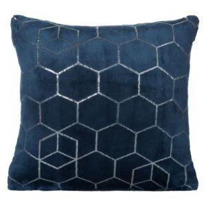 Polštář GEO mikrovlákno modrá Mybesthome 40x40cm, geometrický vzor