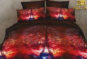 Povlečení  3D NIGHT PARIS set 3 ks, 140×200 cm, 2x povlak 70×80 cm MyBestHome