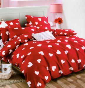 Povlečení RED LOVE 1x 200×220 cm, 2x povlak 70×80 cm francouzské povlečení MyBestHome
