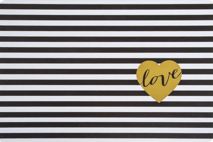 Prostírání LOVE in BW 28×43 cm Mybesthome