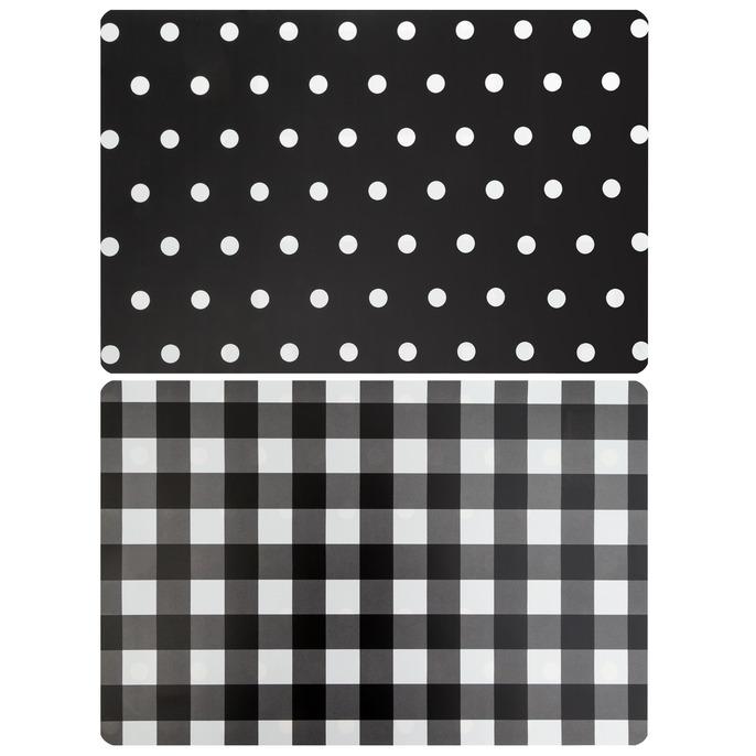 Prostírání MILENA 44×28,5 cm puntíky/káro černá Mybesthome
