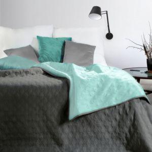 Přehoz na postel COCO 220×240 cm mátová/šedá Mybesthome