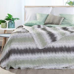 Přehoz na postel ILMO 220×240 cm stříbrná/šedá Mybesthome