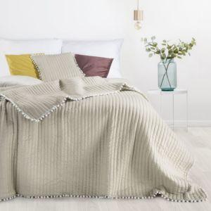 Přehoz na postel MIAMI 220×240 cm béžová Mybesthome