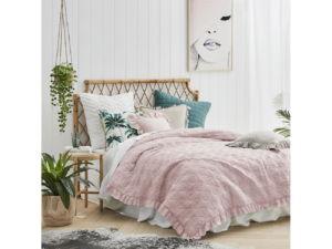 Přehoz na postel ROMANCE 220×240 cm růžová Mybesthome