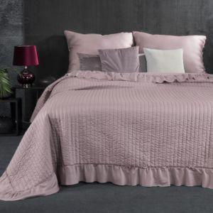 Přehoz na postel s volánky KRISTA 220×240 cm růžová Mybesthome