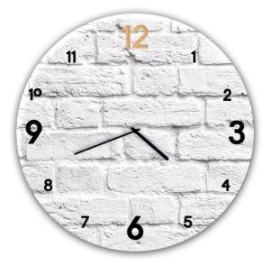 Skleněné nástěnné hodiny BRICK Ø 30 cm Styler