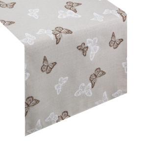 Ubrus – běhoun na stůl ARNIKA 40×140 cm, 40×180 cm béžová, Mybesthome