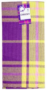 Utěrka bavlněná CHECKY fialová 45×65 cm Essex