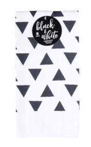 Utěrka BLACK WHITE motiv A mikrovlákno 38×63 cm, Essex