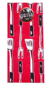 Utěrka GRILL, 100% bavlna, červená, 45×65 cm Essex