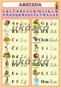 Abeceda česká – tabulka A5