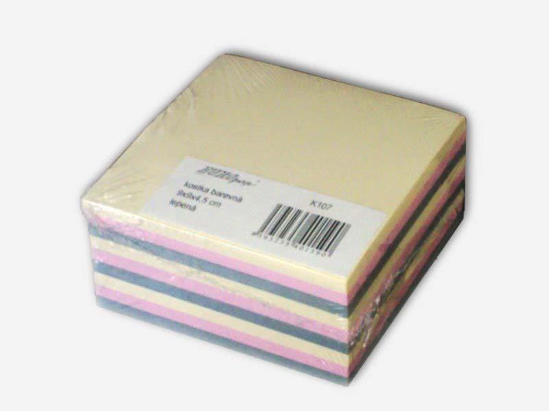 Blok kostka 90x90x45mm barevná lepená