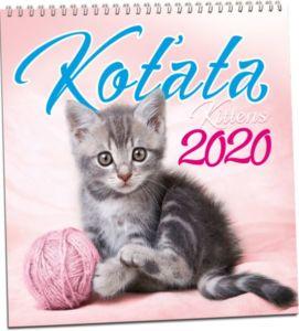 Kalendář nástěnný Koťata 2020