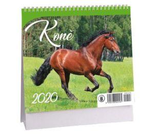 Kalendář stolní MINI Koně 2020
