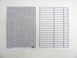 Podložka A5 papír čtvereček/linka