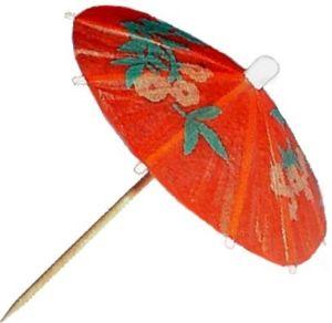 Zápich deštníček 100mm 6ks
