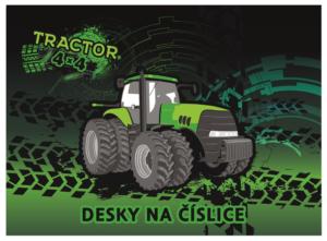 Desky na číslice, Karton P+P – Traktor