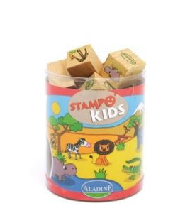 Dětská dřevěná razítka Aladine StampoKids, Zoo