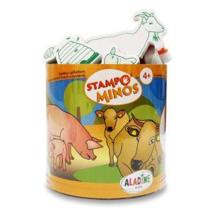 Dětská razítka Stampo Minos Aladine – Zvířátka ze farmě